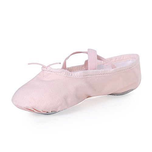 STELLE Girls Canvas Ballet Slipper/Ballet Shoe/Yoga Dance Shoe (Toddler/Little Kid/Big...