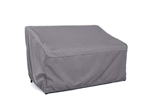 Covermates – Outdoor Patio Glider Cover – 58W x 40D x 40H – Elite – 300D Stock-Dyed Polyester – Double Stitched Seams – Drawcord System – 3 YR Warranty – Weather Resistant - Charcoal