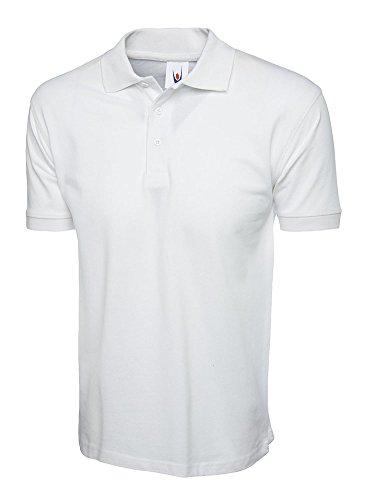 Polo Uneek Riche en Coton ; 100 % Coton, 220 g/m² - 6 Couleurs Disponibles - blanc -