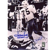 Howie Long's First Sack 16x20 Photo Autographed by Howie Long and Joe Montana