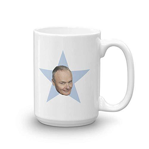 N\A La Taza Blanca de la Estrella del Credo de la Oficina. - Oficial según lo Visto en la Taza