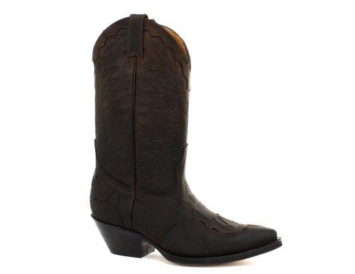 Grinders - Botas para Hombre Crazy Horse Dark Brown, Color marrón, Talla 44