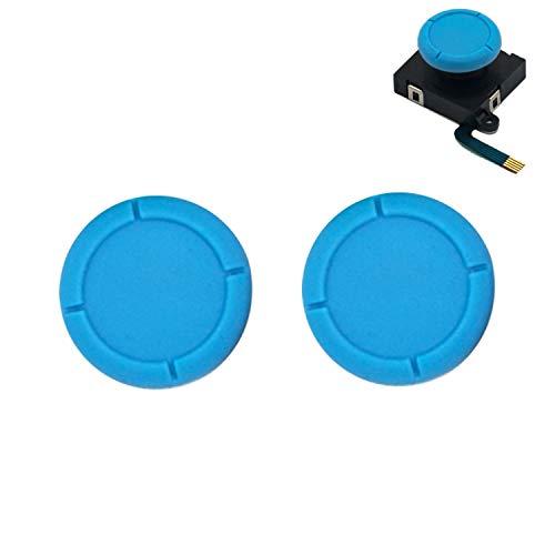 BRHE Ersatz-Daumengriffkappen für Nintendo Switch Original 3D Analog Stick und Nintendo Switch Lite Joy Con Joystick Silikon Gummi Cover Set 2 Pack (blau)