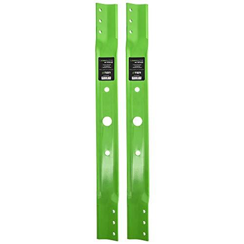 8TEN LawnRAZOR Hi Lift Blade 28 inch Deck for Lesco Snapper Rear Engine Rider 1-9515 7019515 7019515BZYP 2 Pack