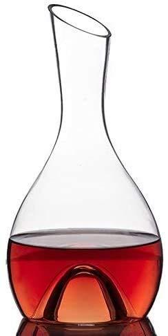 WCY Decanter Upscale Rotwein mundgeblasenem Kristall, Fast Weinspender, Rotwein Karaffe, Weingeschenk, Weinzubehör, große Kapazitäts-Wein Separator Xuan - lohnt Sich (Größe: 1600 ml) yqaae