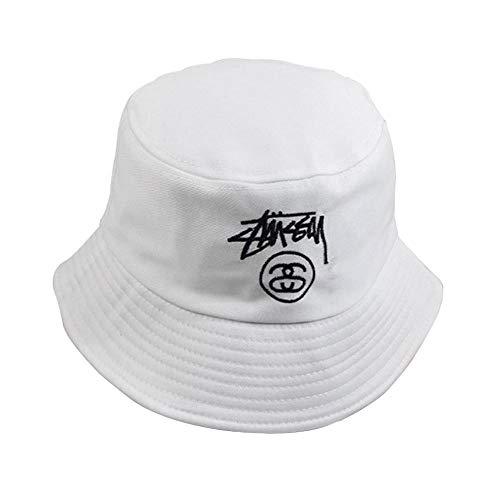 Saisma Sombrero De Pescador Gorra De Diseño Simple Versión Coreana De Hombres Y Mujeres Parejas Hipster Sombrero Bordado Carta Sombrero para El Sol Gorra De Pescador Plegable