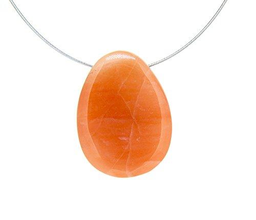 Colgante Rodado Plano Agujereado Cuarzo Naranja Minerales y Cristales, Belleza energética, Meditacion, Amuletos Espirituales