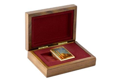 Zippo Accendino Moschea blu, Limited Edition, set regalo con scatola di legno