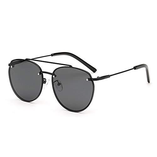 KK Timo Gafas De Sol con Montura Grande De Metal Negro Gafas De Sol for Mujer Gafas