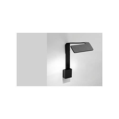 Lámpara de pared corta, 3 led 2, 1W 700mA, con difusor de policarbonato, serie Alpha, color negro, 22 x 13 x 24 centímetros (referencia: 795504/10)