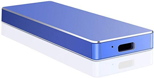 Disque dur externe USB 3.1 Type C 1 To 2 To Portable disque dur externe pour PC, ordinateur portable, Mac (2 To-A Blue)