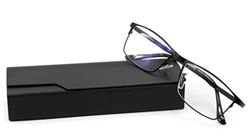 Blaulichtfilter Brille Farbechte Sicht · Blaufilter | Für Büro Komplett Metallrahmen · Schutz vor PC Fernseher und Handy Bildschirmen · Blaulicht Filter Schutzbrille