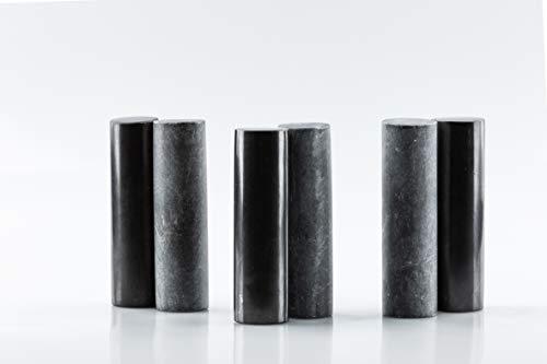SN NATURSTEIN UG - Armonizador Shungit y Esteatita   Gema y piedra curativa originaria de Carelia - Pack 2 x 3