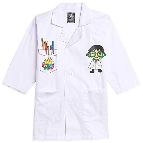 RYAN'S WORLD Big Boys Kids Costume Lab Coat Science Doctor White 10-12