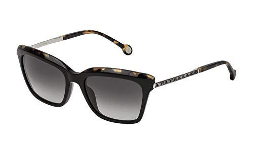 Carolina Herrera Gafas de Sol Mujer SHE689540700 (Diametro 54 mm), Negro, 54 Unisex-Adult