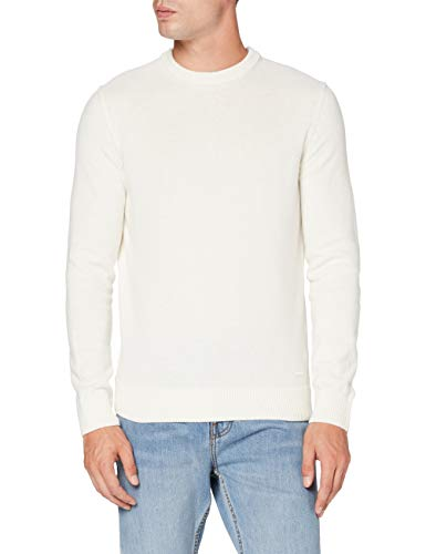 BOSS Mens Kontreal Pullover Sweater, Natural (102), L