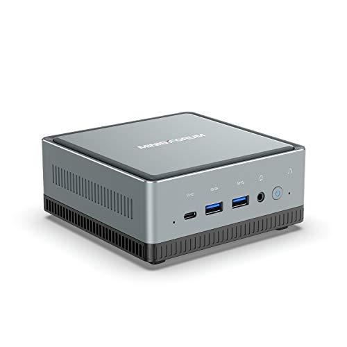 Mini PC, Intel Core i5-8259U procesador Quad Core Ampliable 16 GB DDR4 / 256 GB SSD Mini Ordenador de sobremesa con Windows 10 Pro, HDMI, DP y USB C, Dual Band WiFi, BT 5.1, USB 3.0 * 4