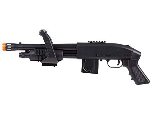 Mossberg 590 Airsoft Spring Shotgun Pump-Action Chainsaw with Picatinny Rail