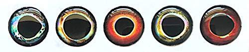 Brule 3-D Hard Epoxy Eyes (Combo4, 8mm)
