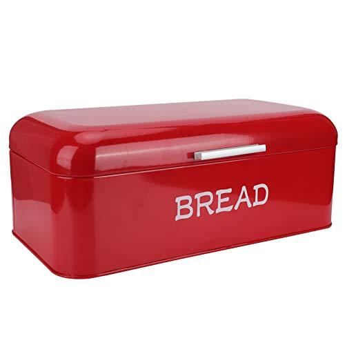 Caja de pan, bandeja de pan de estilo europeo grande rojo, para panadería de cocina