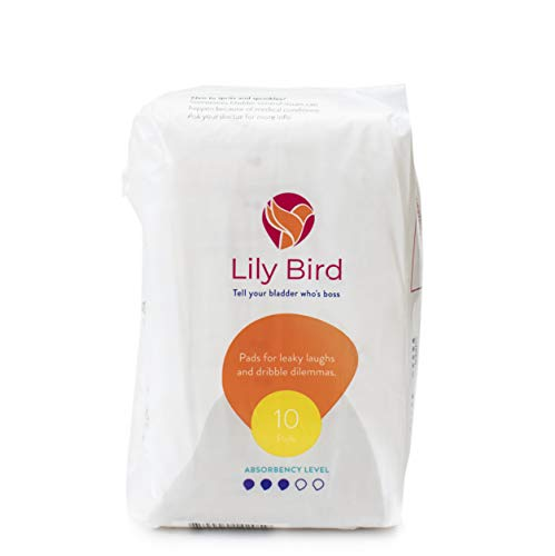 Lily Bird Incontinence Pads for Women, 30 Count (3 Packs of 10) (Maximum)