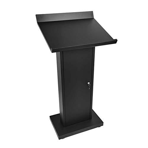 YzDnF Edelstahl sprechender Lektoren mit großem Speicherbereich Podium Hochleistungs-Handelpodest Stand auftragen (Color : Black, Size : 60x51x122cm)