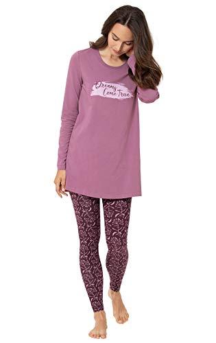 Addison Meadow Ladies Pajamas Sets - Womens Pajamas Long Sleeve Sets, Plum, LG