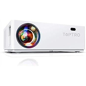 """TOPTRO Bluetooth Proiettore,7200 Lux Nativo 1080P e 350 """"Videoproiettore,Supporto 4K,Zoom e Correzione Trapezoidale ± 50 °4D,Proiettore Home Theater Compatibile con Telefono/TV Stick/PC/USB/PS4/DVD"""
