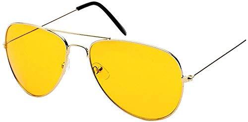 XGBDTJ Nachtsicht Sonnenbrillen Uv400 Gläser Mode Klassisch Mode Living Damen Polarisierte Sonnenbrille Strand Urlaub Retro Multicolor Brille (Color : Gold, Size : Size)