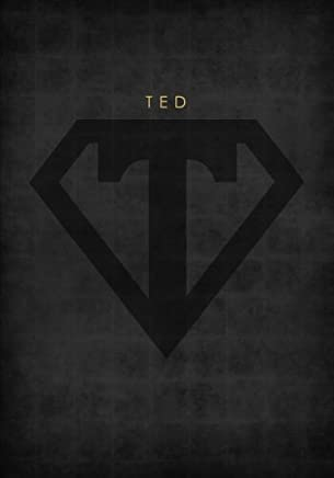 Personalized Name Book for Ted with Superhero Logo (7x10 Notebook with Lined Pages): A Cool And Motivational Journal/Composition Book To Write In For Guys