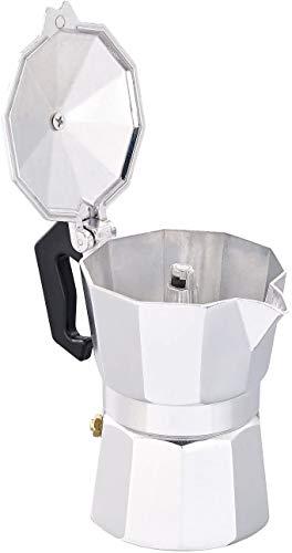 Zap Espressokocher aus Edelstahl Tropfkanne, Kaffeekessel, für 3 Tassen, aus Aluminium, Kaffeekanne, Espresso, aus Edelstahl, für Kaffee, zum Gießen 150ML 3cups