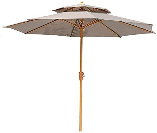 CHLDDHC Sombra Sunbrella 2 Niveles,Patio Sombrilla Jardín Cafetería Césped Playa Barbacoa Bar Picnics Porche Camping Balcón,Beige-2.5X2.7M