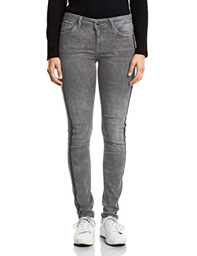 Street One Damen 371750 York Slim Jeans, Grey Random Bleach, W34/L30 (Herstellergröße: 34)