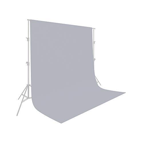 UTEBIT Fotohintergrund Grau 1,5x2m / 5x7ft Hintergrund Fotografie Grau Backdrop Grey 100% Polyester Hintergrundstoff mit Stangentasche für...