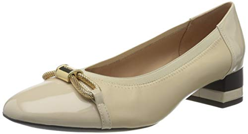Geox D CHLOO Mid A, Zapatos de Tacón Mujer, Beige (Sand C5004), 39.5 EU