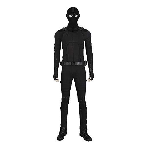 QWEASZER Spider-Man Far from Home Marvel Avengers Black Shadow Sneak Battle Costume...
