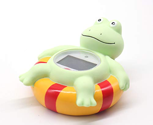 Baby Bathtub Thermometer, Infant Baby Bath Floating Frog Temperature Thermometer with Temperature Safety Indicator (Frog)