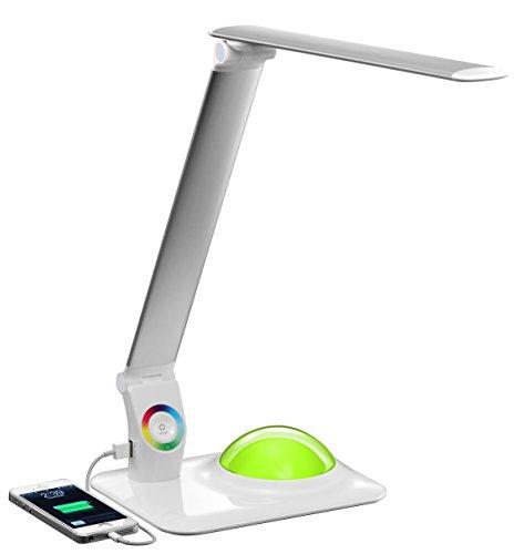 Big Bang Silver – LED Lampe de bureau avec USB 2.0 et RVB