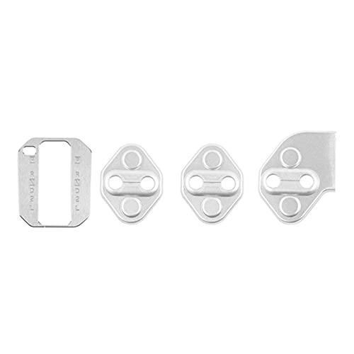 Prospective Cubierta del Panel de la Caja del Cambio del Engranaje Plata de la Plataforma con los interruptores de Bloqueo de la Puerta CUBIERTE TIR 3PCS (Color : Silver)