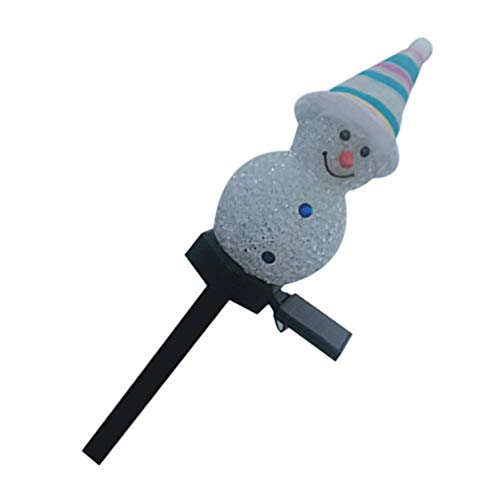 Minkissy Snowman Garden Stake Light, Solar Christmas Snowman Decorations Outdoor Christmas Yard Garden Stakes Decor for Lawn Pathway (Random Color)