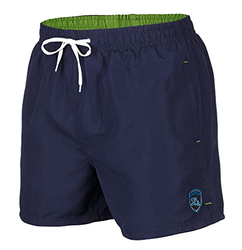 Zagano Adam Lipski Badehose Herren Schwimmhose Herren Badeshorts Herren, 5106 Badehose Herren lang blau, Gr. XL