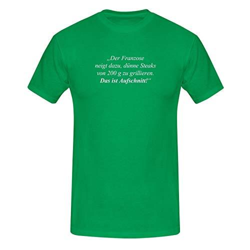 T-Shirt Das ist Aufschnitt Grillen Spruch Zitat Humor Fun 13 Farben Men XS-5XL feiern Comedy Parodie BBQ Geschenk, Farbe:grün - Logo Weiss, Größe:5XL