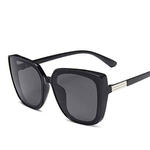Cat Eye - Gafas de sol para mujer de gran tamaño, montura cuadrada, polarizadas, unisex, protección UV400, para deportes de conducción, ciclismo, pesca, color negro