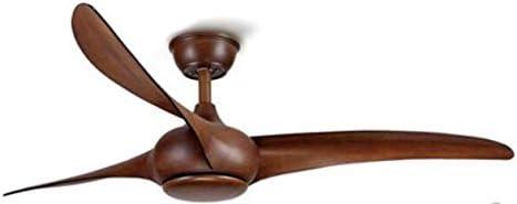 YY Ventilador de techo de vintage marrón nórdico con luces Control de atenuación remoto Ventilador de Techo Ventilador LED Luz Dormitorio Techo Fans (Blade Color : Yellow)