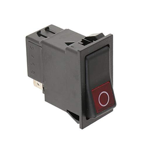 QHMDZ Interruptor basculante SPST Type Switch 2 Posiciones en el Interruptor de balancín de la camioneta del automóvil