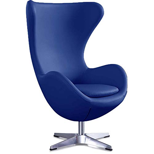Feelcomfort Ohrensessel Taby - Kunstleder blau
