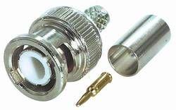 MANAX BNC-Stecker |Crimp-Version |für Kabel RG 174 U - Ø 2,8 mm | 10 Stück
