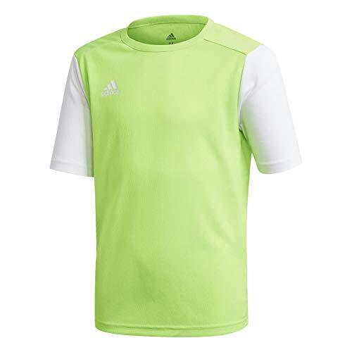 adidas Estro 19 Jersey Camiseta, Unisex niños, Solar Green/White, 128