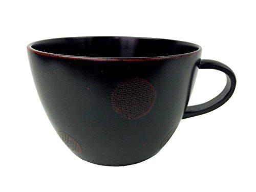 中谷兄弟商会 山中漆器 シチューカップ ドット 布貼 曙 W91-2