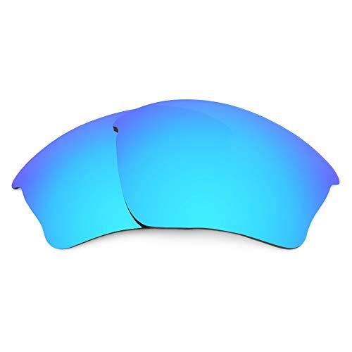 Revant REVANT Ersatzgläser Kompatibel mit Oakley Half Jacket XLJ (Asiatische Passform), Polarisiert, Elite Eisblau MirrorShield
